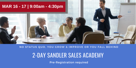 2 Day Sales Academy Sandler Training New Hampshire